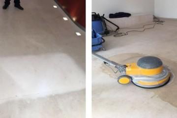 Natuurstenen vloer reinigen